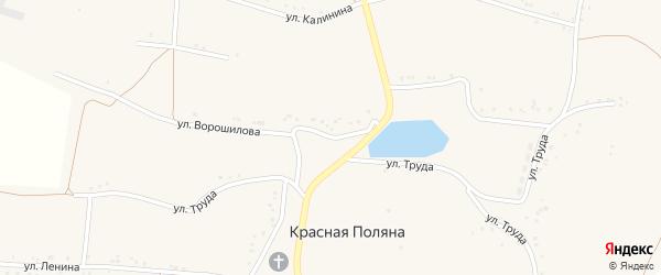 Улица Ворошилова на карте села Красной Поляны с номерами домов