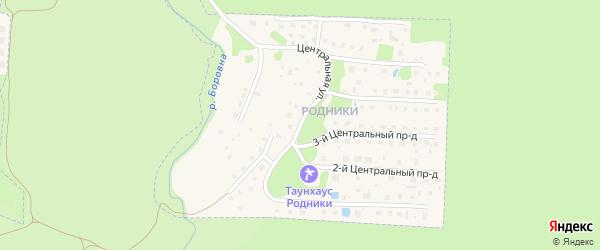 Центральная улица на карте Кременки с номерами домов