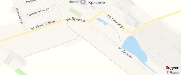 Улица 40 лет Победы на карте поселка Красного с номерами домов