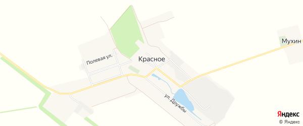 Карта поселка Красного в Белгородской области с улицами и номерами домов