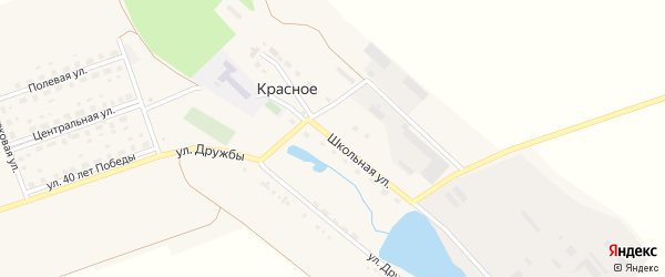 Школьная улица на карте поселка Красного с номерами домов