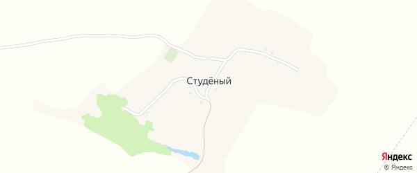 Песчаная улица на карте Студеного хутора с номерами домов