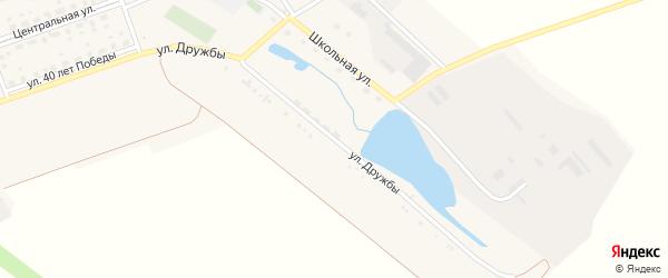 Улица Дружбы на карте поселка Красного с номерами домов