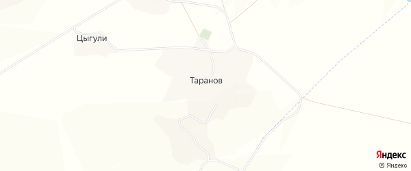 Карта хутора Таранова в Белгородской области с улицами и номерами домов
