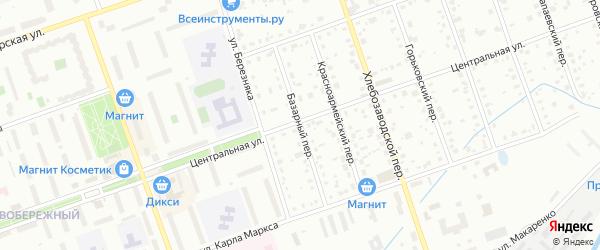 Базарный переулок на карте Дубны с номерами домов