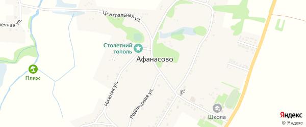 Заречная улица на карте села Афанасово с номерами домов