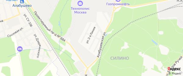 Карта населенного пункта Энергетика города Улан-Удэ в Бурятии с улицами и номерами домов