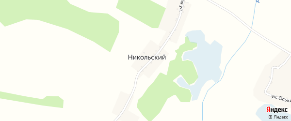 Никольская улица на карте Никольского хутора с номерами домов