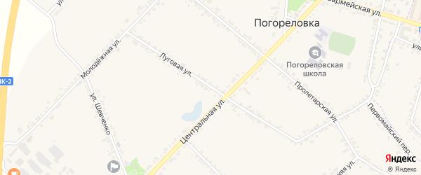 Луговая улица на карте села Погореловки с номерами домов