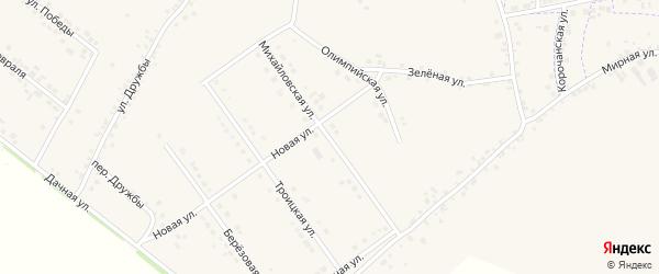 Михайловская улица на карте села Подкопаевки с номерами домов