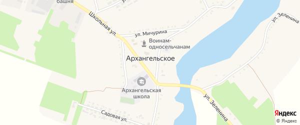 Первомайская улица на карте Архангельского села с номерами домов