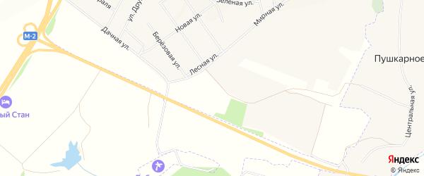 Карта хутора Хмелевого в Белгородской области с улицами и номерами домов