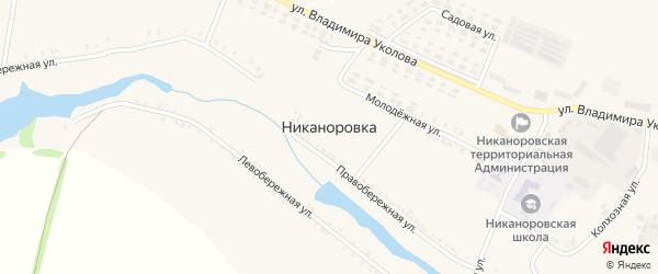 Логовая улица на карте села Никаноровки с номерами домов