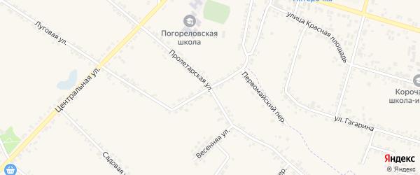 Первомайская улица на карте села Погореловки с номерами домов