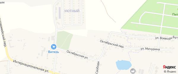 Переулок Свободы на карте села Погореловки с номерами домов