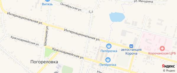 Улица Свободы на карте села Погореловки с номерами домов