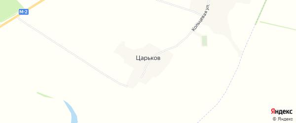 Карта хутора Царькова в Белгородской области с улицами и номерами домов