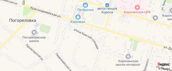 Улица Красная Площадь на карте Корочи с номерами домов