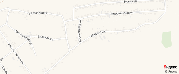 Мирная улица на карте села Подкопаевки с номерами домов