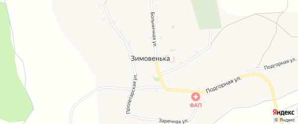 Пролетарская улица на карте села Зимовеньки с номерами домов
