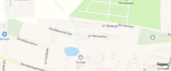 Улица Мичурина на карте Корочи с номерами домов