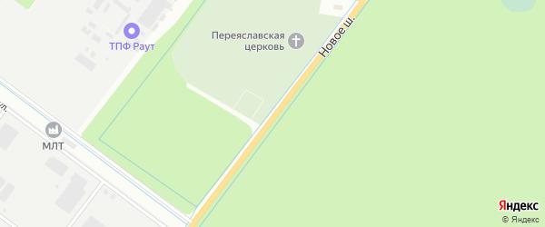 Новое шоссе на карте Дубны с номерами домов