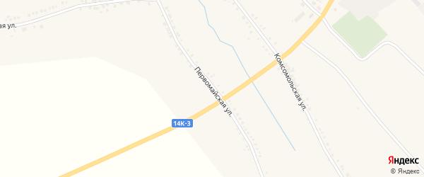 Первомайская улица на карте села Белянки с номерами домов