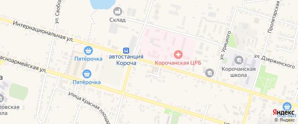 Интернациональная улица на карте села Погореловки с номерами домов