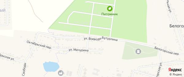 Улица Бутурлина на карте Корочи с номерами домов