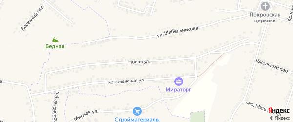 Новая улица на карте Корочи с номерами домов