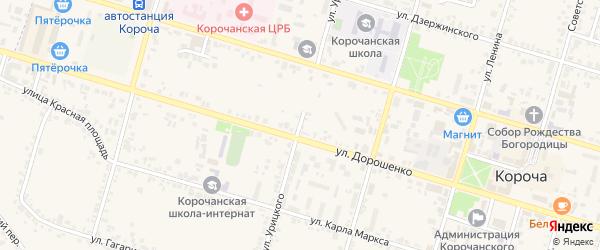 Улица Урицкого на карте Корочи с номерами домов