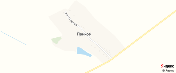 Советская улица на карте хутора Панкова с номерами домов