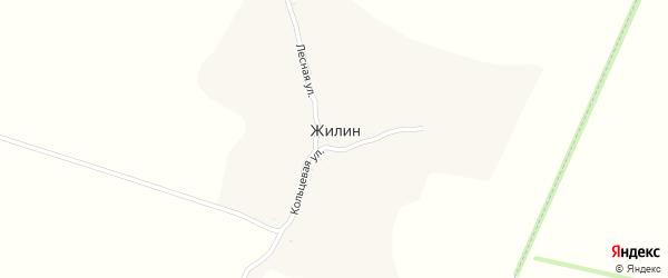 Кольцевая улица на карте хутора Жилина с номерами домов