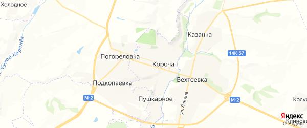 Карта Корочи с районами, улицами и номерами домов