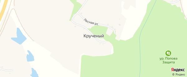 Лесная улица на карте Крученого хутора с номерами домов