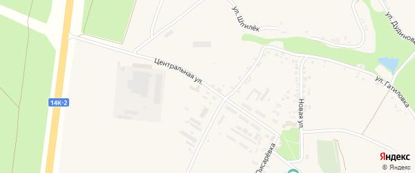 Центральная улица на карте села Поповки с номерами домов