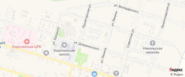 Переулок Кабанова на карте Корочи с номерами домов