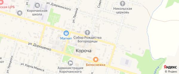 Советская улица на карте Корочи с номерами домов