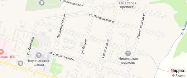 Улица К.Либкнехта на карте Корочи с номерами домов