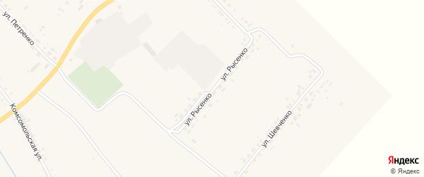 Улица Рысенко на карте села Белянки с номерами домов