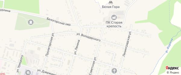 Улица Володарского на карте Корочи с номерами домов