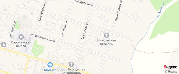Переулок Зинченко на карте Корочи с номерами домов