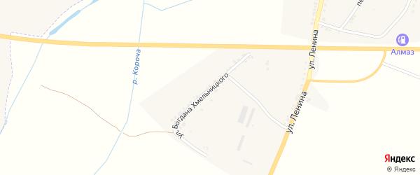 Улица Б.Хмельницкого на карте села Бехтеевки с номерами домов