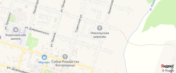 Улица Жарикова на карте Корочи с номерами домов