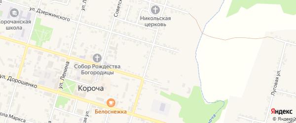 Ленинградская улица на карте Корочи с номерами домов