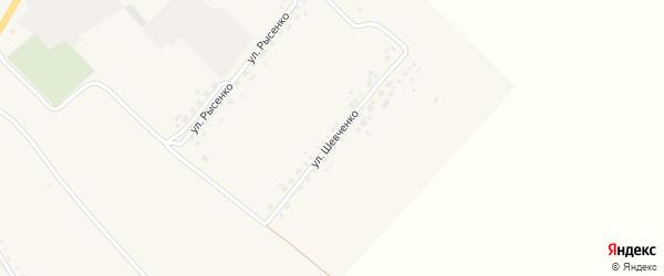 Улица Шевченко на карте села Белянки с номерами домов