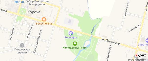 Улица Дорошенко на карте села Бехтеевки с номерами домов