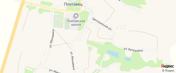 Центральная улица на карте села Плотавца с номерами домов