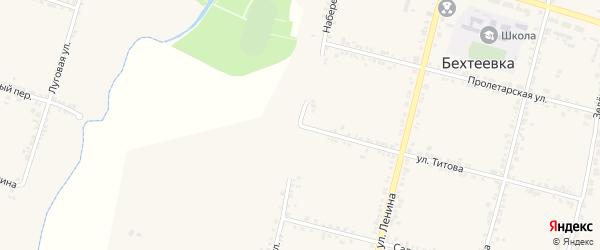 Набережная улица на карте села Бехтеевки с номерами домов
