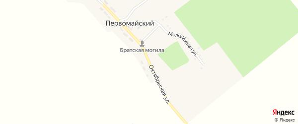 Октябрьская улица на карте Первомайского поселка с номерами домов